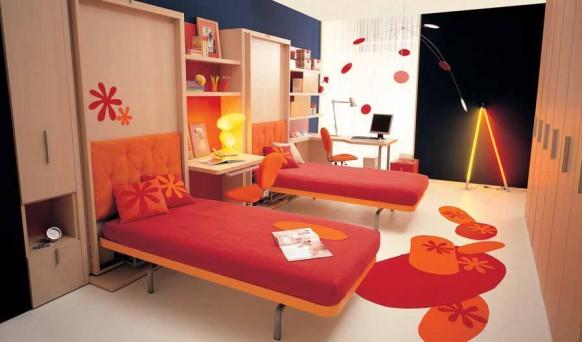 Küçük alanlar için genç odaları
