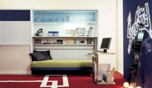 genç odası, yatak, dolap, çalışma masası dekorasyonu