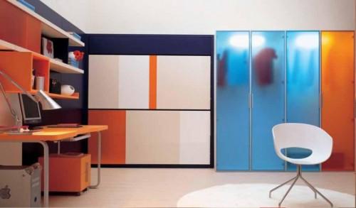 genç odası, dolap dekorasyonu