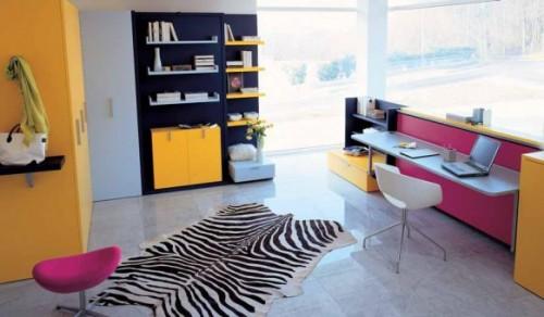genç odası, çalışma ve kitaplık dekorasyonu