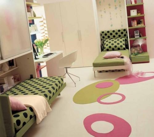 genç odası, 2 yatak dekorasyonu