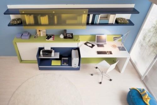 genç odası, çalışma alanı